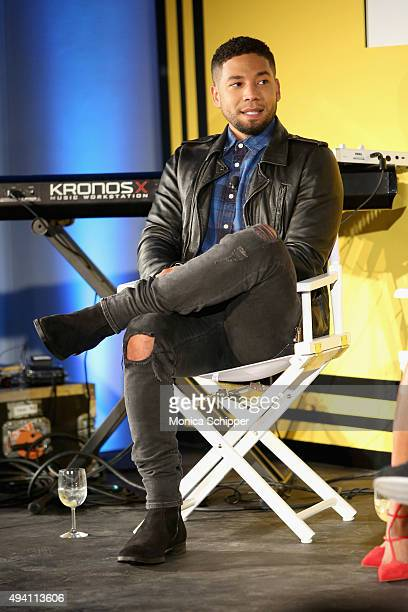Jussie Smollett speaks onstage during Entertainment Weekly's first ever 'EW Fest' presented by LG OLED TV on October 24 2015 in New York City