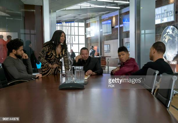 Jussie Smollett Taraji P Henson Terrence Howard Bryshere Gray and Trai Byers in the 'A Lean Hungry Look' episode of EMPIRE airing Wednesday May 2 on...