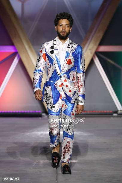 Jussie Smollett walks the Runway at Fashion for Relief Cannes 2018 during the 71st annual Cannes Film Festival at Aeroport Cannes Mandelieu on May 13...