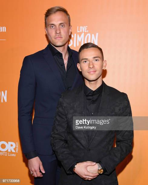 JussiPekka Kajaala and Host and Olympic Athlete Adam Rippon attends The Trevor Project TrevorLIVE NYC at Cipriani Wall Street on June 11 2018 in New...
