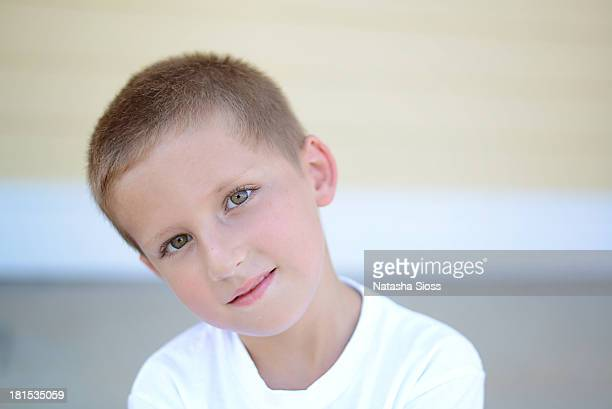 just a boy - head cocked stock pictures, royalty-free photos & images