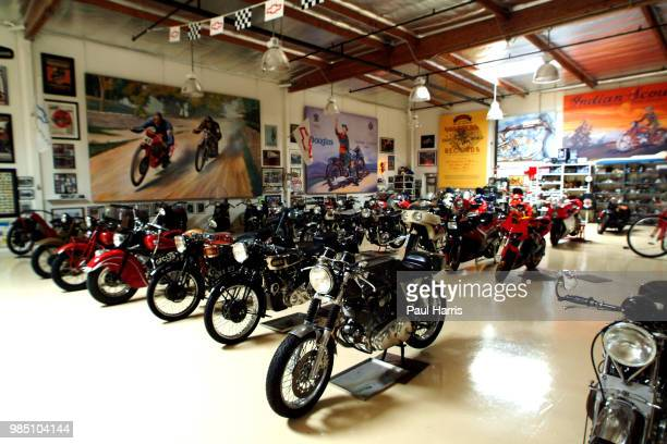 Just a few of the cars and Motor cycles in the 3 Air conditioned warehouse that store Jay Lenos collection of cars and motor cycles American...