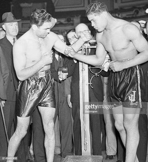 Just a Rehearsal New York Louis exactly 198 pounds Schmeling 192 Both men in perfect physical condition In this laconic manner was the result of the...