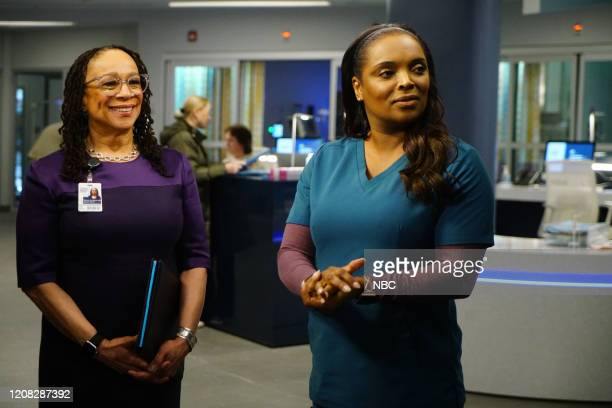 MED Just A River In Egypt Episode 519 Pictured S Epatha Merkerson as Sharon Goodwin Marlyne Barrett as Maggie Lockwood