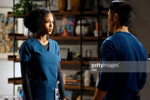 MED Just A River In Egypt Episode 519 Pictured Yaya DaCosta as April Sexton Brian Tee as Ethan Choi