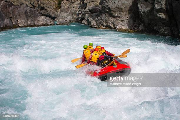 Just a short distance from Christchurch, Rangitata is a main stop for rafting down the Rangitata Gorge and the Rangitata River. This group rafts down the river