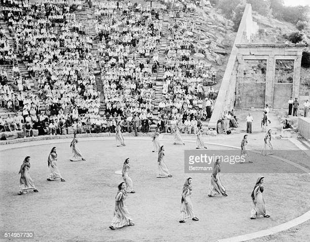 Just as they used to do twenty four centuries ago Greeks from all parts of the country rushed to Epidaurus Greece to attend a theatrical performance...