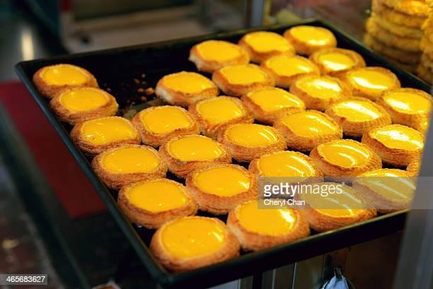 Just baked egg tarts