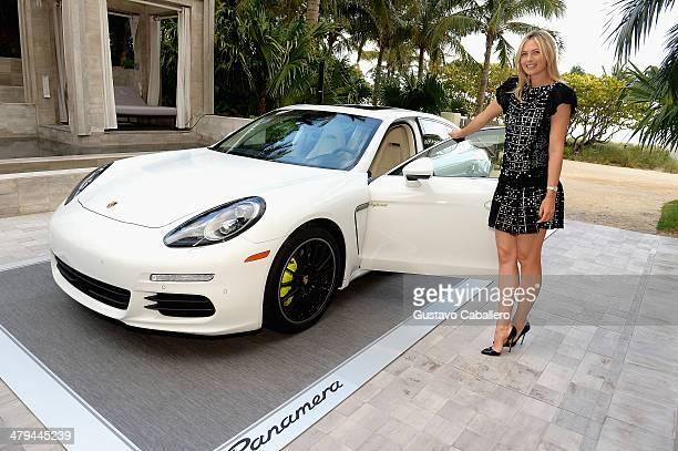 Just before the start of the Sony Open tennis tournament in Miami Porsche brand ambassador Maria Sharapova attends the 'Porsche Media Night' in Bal...
