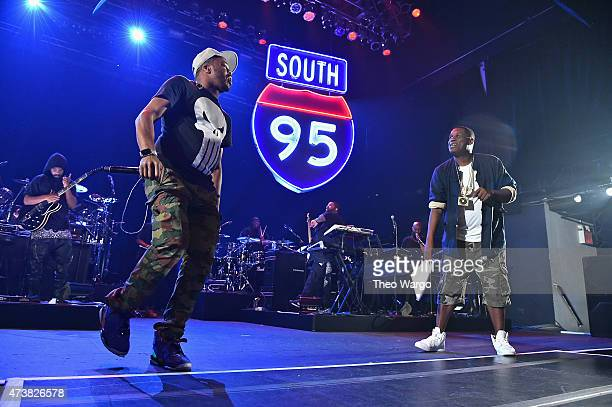 Just Blaze and Jay Electronica perform during TIDAL X JayZ Bsides in NYC on May 17 2015 in New York City