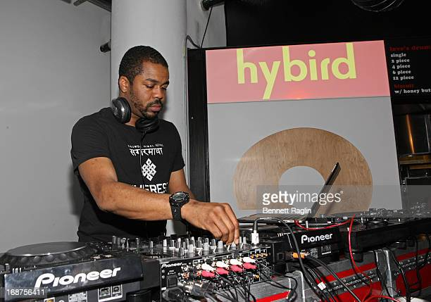 DJ Just Blaze attends the Hybird opening night party presented by Questlove and Stephen Starr inside Chelsea Market on May 14 2013 in New York City