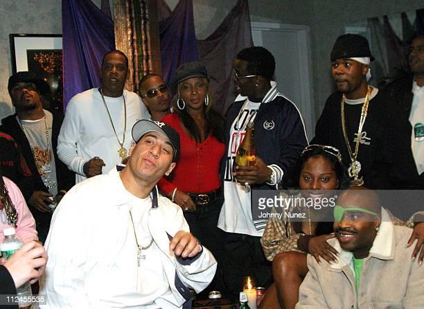 Just Blaze JayZ DJ Kid Capri TI Mary J Blige Sean 'P Diddy' Combs Foxy Brown Memphis Bleek and Slick Rick