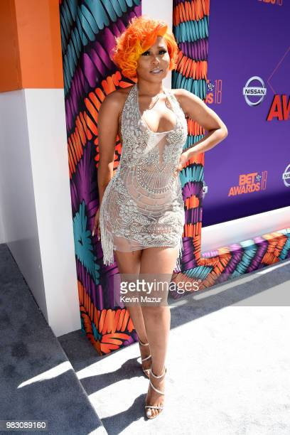 Just Brittany attends the 2018 BET Awards at Microsoft Theater on June 24 2018 in Los Angeles California