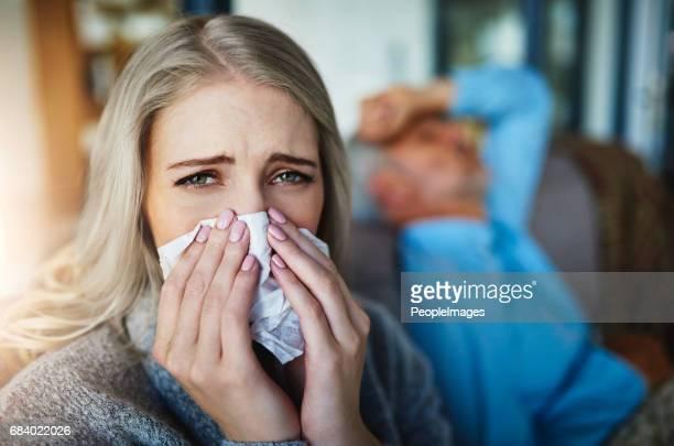 ちょうどインフルエンザとの戦いを勝つことができません。