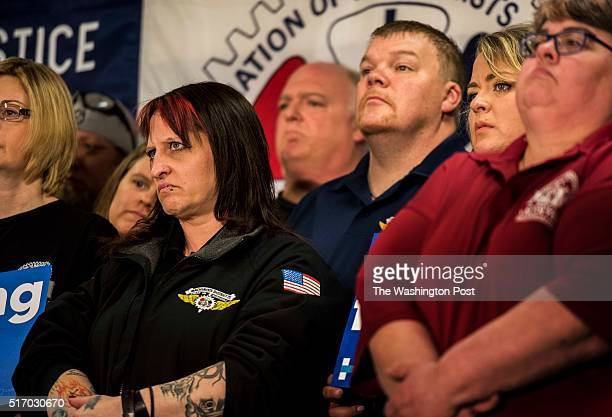 EVERETT WA Just days before the Washington Caucuses former Secretary of State Hillary Clinton speaks to union workers at IAM District 751 Everett...