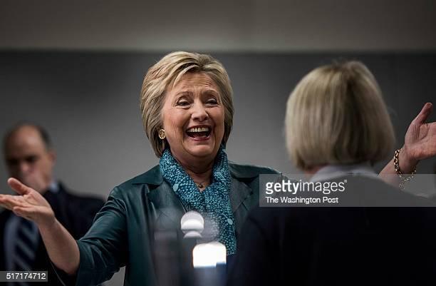 EVERETT WA Just days before the Washington Caucuses former Secretary of State Hillary Clinton accompanied by Washington State Senator Patty Murray...