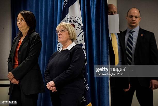 EVERETT WA Just days before the Washington Caucuses former Secretary of State Hillary Clinton accompanied by Washington State Senators Maria Cantwell...