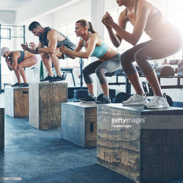 just do it! - circuit training stock photos and pictures