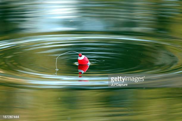 Just Fishing - Cork Floating on Calm Lake
