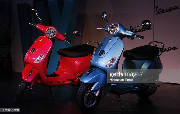Just launched model of Vespa VX 125 scooter on July 4 2013 in New Delhi India The VX 125 is priced at Rs 71380 and is armed with a muchneeded 200mm...