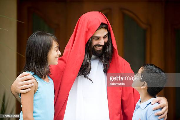 just like a friend - smiling jesus stock pictures, royalty-free photos & images