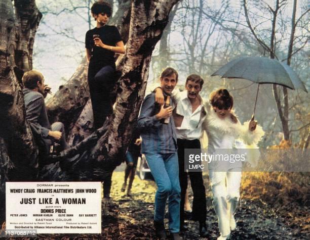Just Like A Woman lobbycard on ground from left John Wood Francis Matthews Wendy Craig 1967