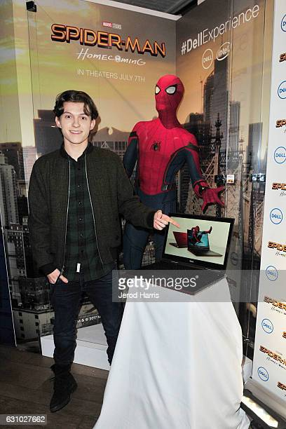 Just like in the upcoming July 2017 Sony Pictures release of SpiderMan Homecoming Tom Holland star of the film connects the Spidey suit to the new...