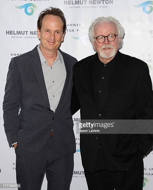 Just Loomis and David Fahey attend the opening of 'Helmut Newton White Women Sleepless Nights Big Nudes' at Annenberg Space For Photography on June...