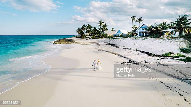 just married in the bahamas - abaco islands stock pictures, royalty-free photos & images