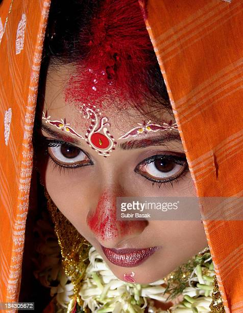 Just married Indian hindu bride.