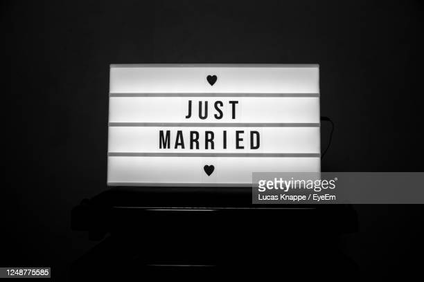 just married - marriage stock pictures, royalty-free photos & images