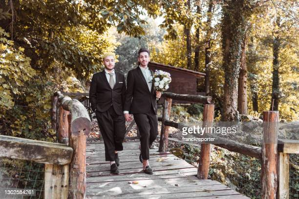 just married walking together - planning stock pictures, royalty-free photos & images