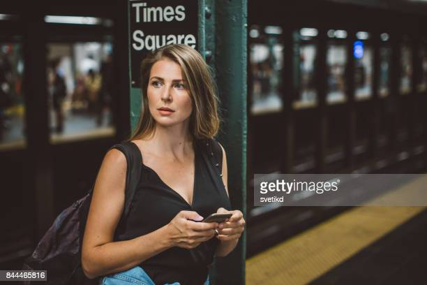 just on time - new york city subway stock pictures, royalty-free photos & images