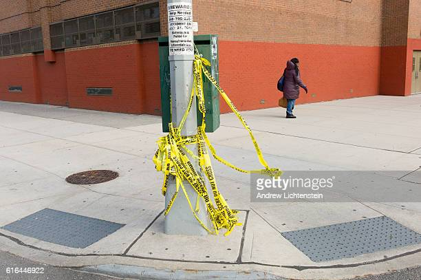 Just outside of PS 13 on Pennsylvania Avenue in East New York crime scene tape marks the spot where Darnell Wilkerson was shot in the middle of the...