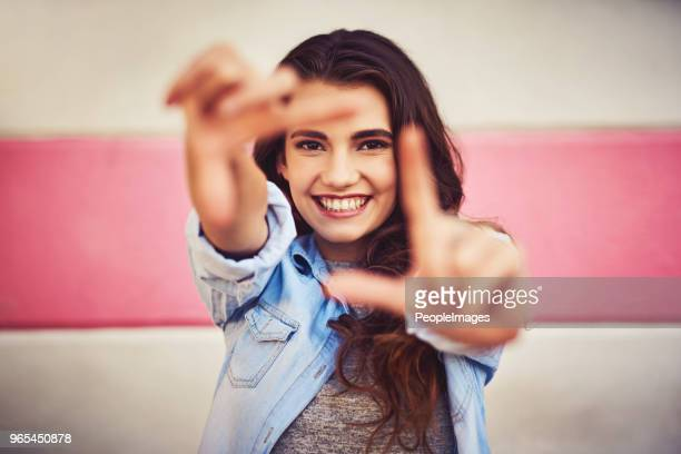 just picture yourself being happy in your life - square composition stock pictures, royalty-free photos & images
