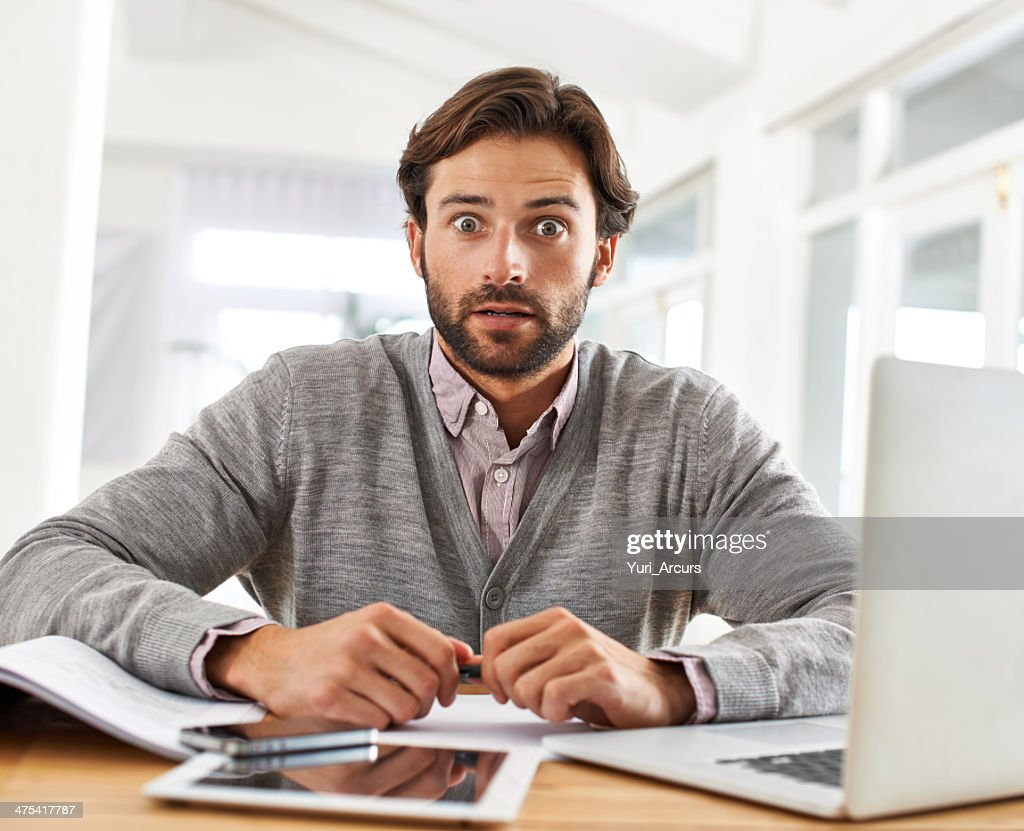 I just sent the wrong email to my boss! : Stock Photo