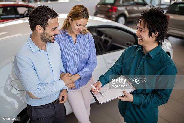 Just sign here and the car is yours!