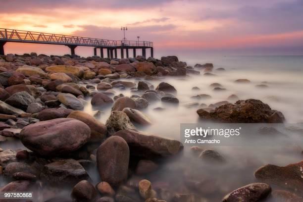 just summer - clevedon pier ストックフォトと画像