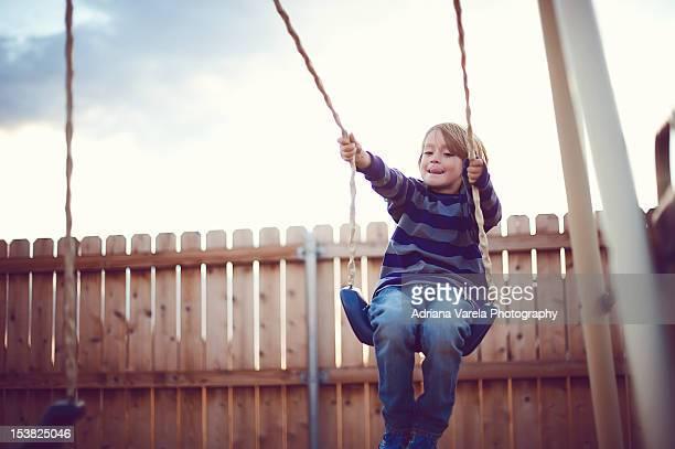 Just swinging away
