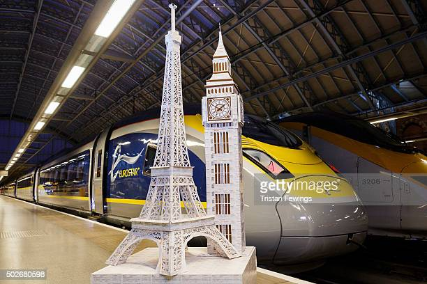 Just the ticket iconic London and Paris landmarks made from recycled train tickets have been created as Eurostar launches fares from £29 oneway when...