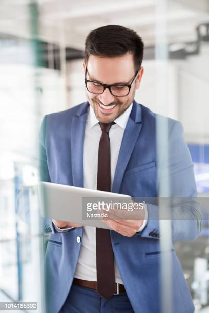 just to sand this mail - salesman stock photos and pictures