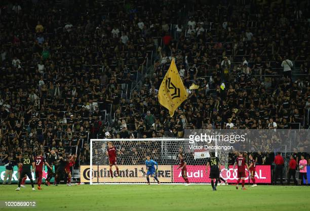 Justen Glad of Los Angeles FC can't get to the cross to the box during the second half of their MLS match against Los Angeles FC at Banc of...
