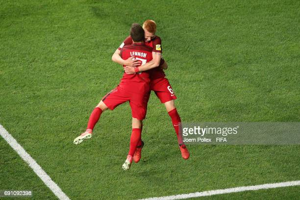 Justen Glad of USA celebrates with his team mate Brooks Lennon after scoring his team's first goal during the FIFA U20 World Cup Korea Republic 2017...