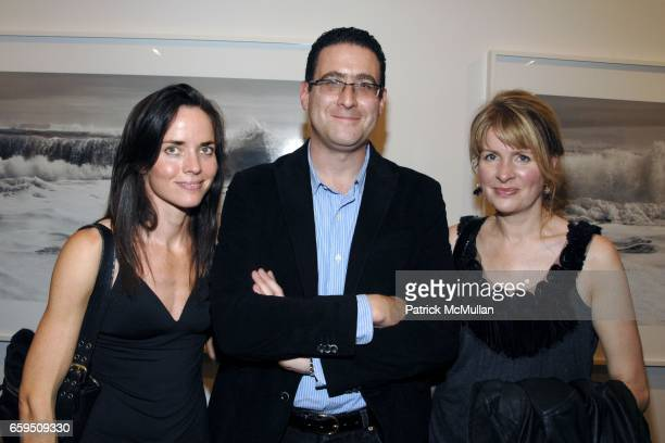 Justena Kavanagh Eric Simonoff and Anne Sikora attend CLIFFORD ROSS Gallery Opening at Sonnabend Gallery on October 24 2009 in New York City