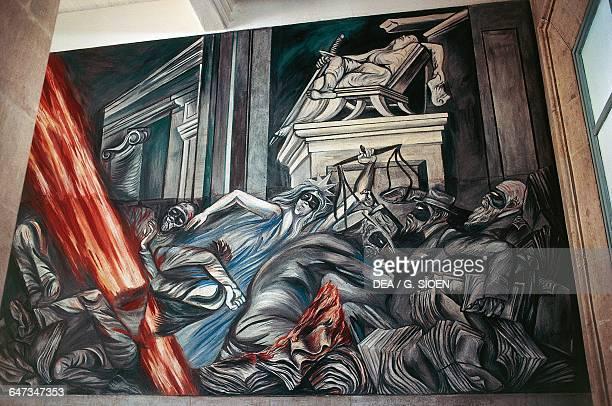 Justice, 1940-1941, mural by Jose Clemente Orozco , Suprema Corte de Justicia de la Nacion. Mexico, 20th century.