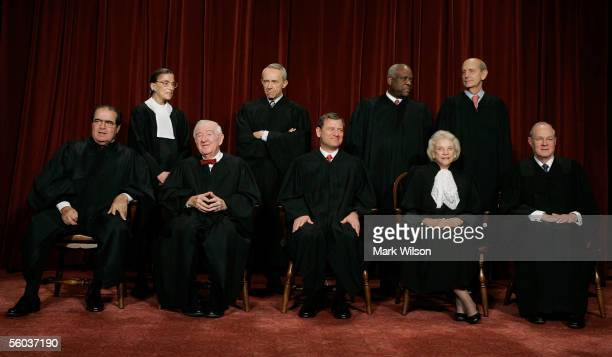Justice Antonin Scalia, Justice John Paul Stevens, Chief Justice John G. Roberts, Justice Sandra Day O'Connor, Justice Anthony M. Kennedy, Justice...