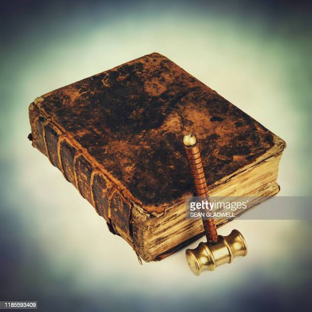 justice book and hammer - sentencing stock pictures, royalty-free photos & images