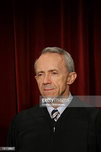 Justice David Souter poses for photographers at the US Supreme Court October 31 2005 in Washington DC Earlier in the day US President George W Bush...