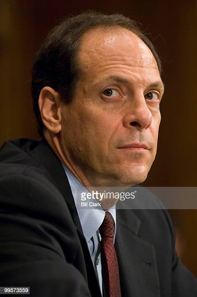 Justice Department Inspector General Glenn Fine testifies during the Senate Judicary Committee hearing on Politicized Hiring at the Department of...