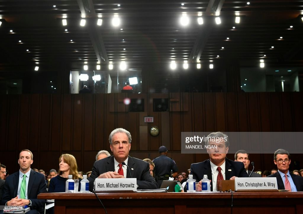 Justice Department Inspector General Michael Horowitz and FBI